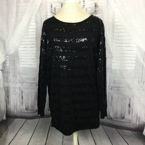 Alice + Olivia Sweater Long Sleeve Sequins Small